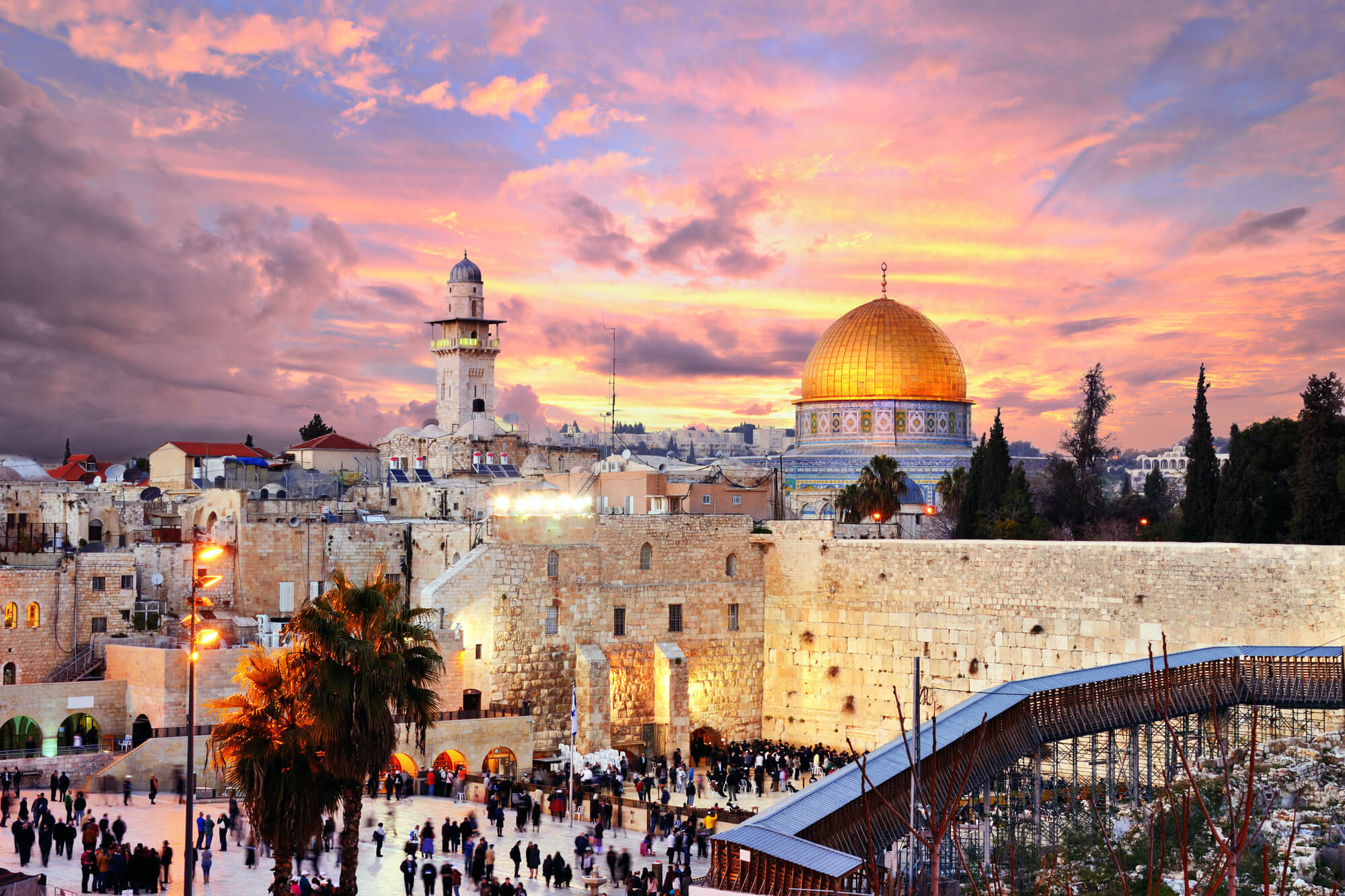 Temple Mount in Jerusalem, Israel. Clergy visa Israel