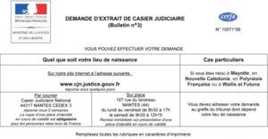 Délivrance d'un certificat d'intégrité français